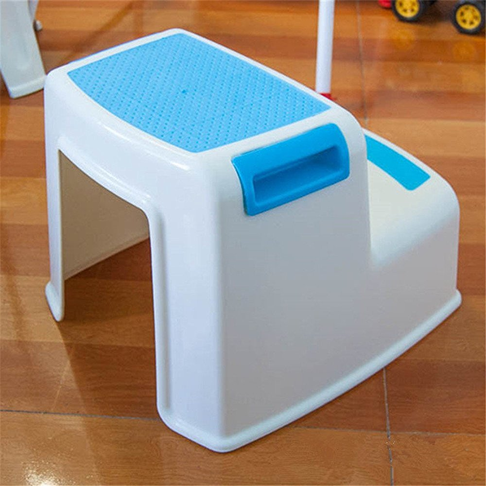 OliaDesign Children's Slip Resistant Two Levels Step Stool 9496