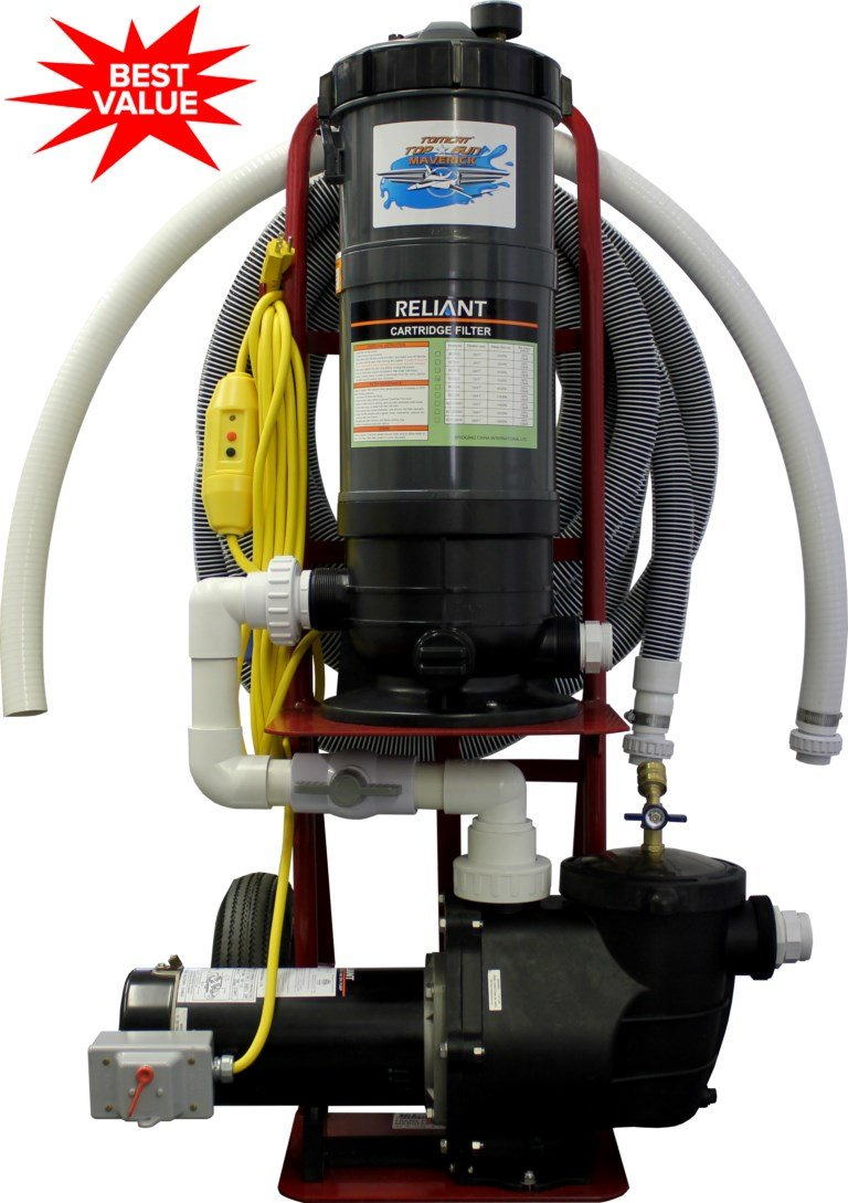 Tomcat® Top Gun Maverick Portable Pool Vacuum System