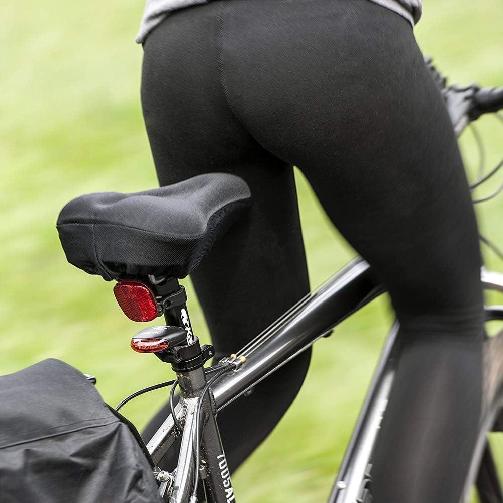 Rojo Free Size Extra Suave Gel Bicicleta Funda de Asiento Bicicleta Sill/ín Acolchado con Agua /& Polvo Cubierta Resistente Gel Asiento de Bicicleta Juego de Funda