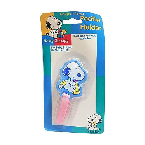 Amazon.com: Peanuts – Snoopy Pacifier Holder para bebé Baby ...