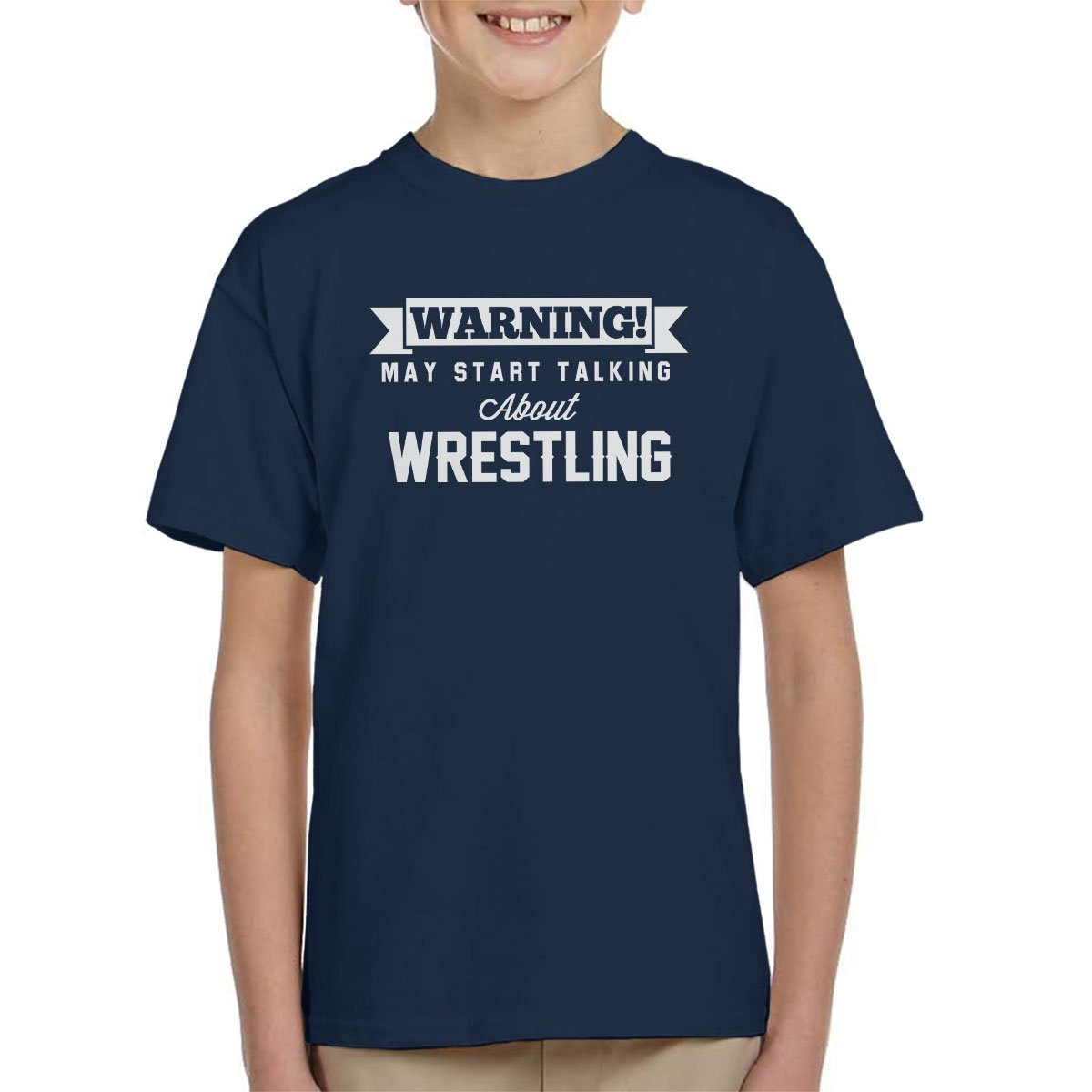 Warning May Start Talking About Wrestling Kid's T-Shirt