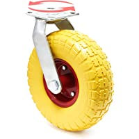 Wiltec Ruota da Trasporto Anti-Foratura 258x78mm con Supporto ruotante e Disco in Metallo