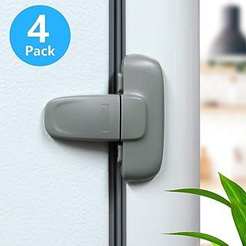 Oraunent 8 Pack Sliding Cabinet Locks U Shape Baby Safety Locks Child Proof Cabinet Lock
