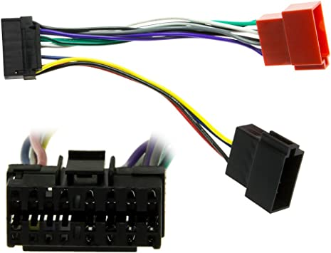 Jvc Din Iso Car Radio Adapter Cable Plug 16 Pin Elektronik