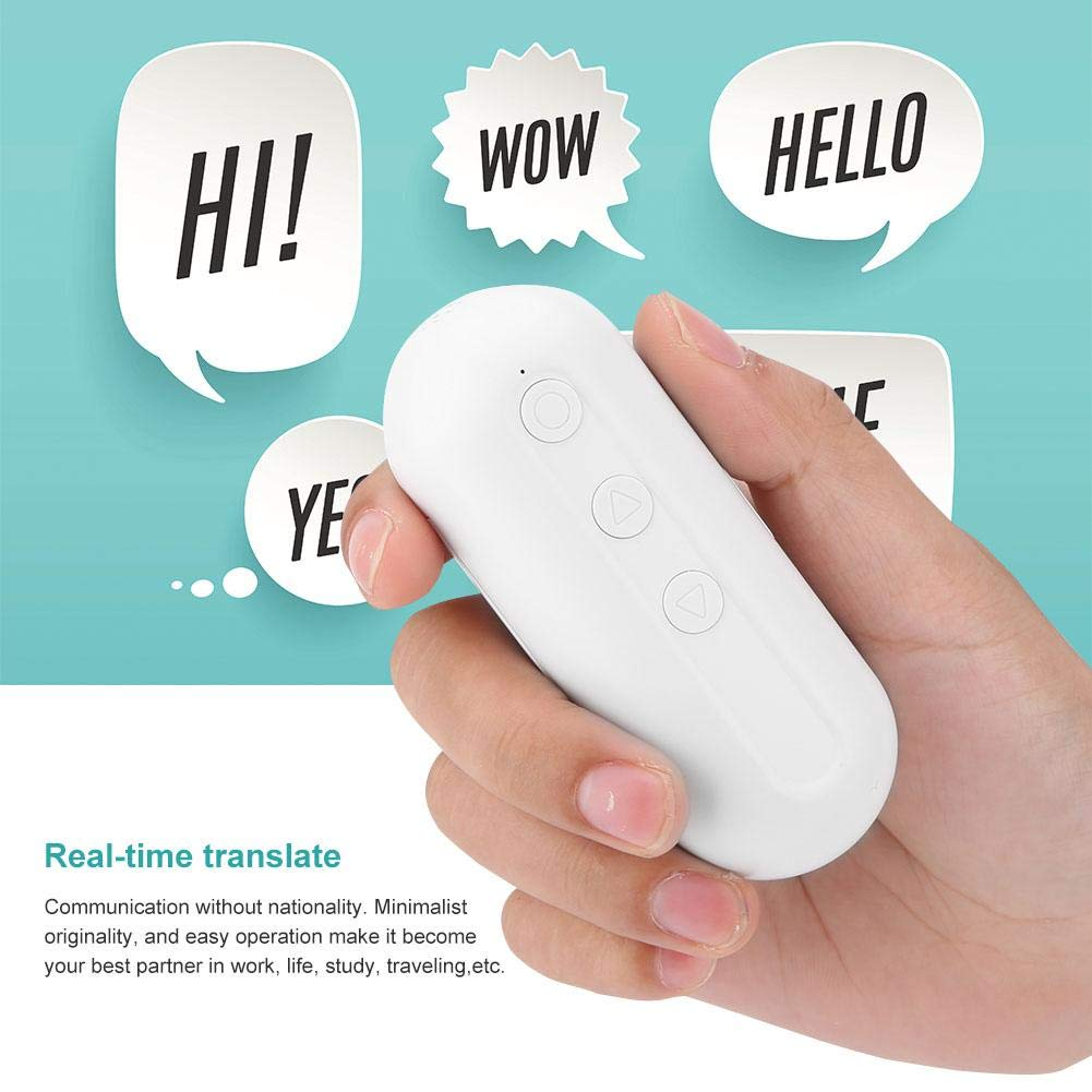 Translator Earbuds with Gift Charging Box,2 in 1 Bluetooth Headphone/ Real Time Wireless Language Translator Earphone Device Voice Translation Support 19 Languages Dual Mic & Noise Reduction(White) by fosa (Image #9)