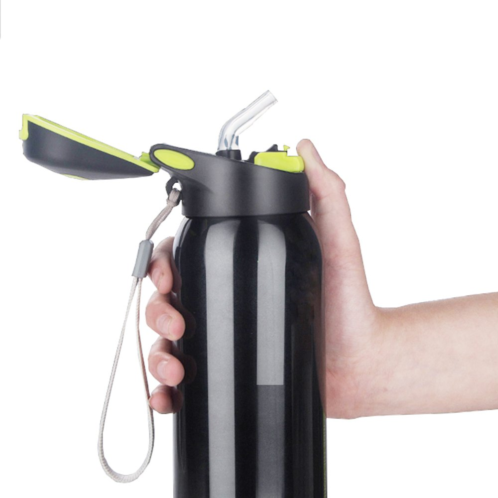 Drinking Straw Cup BPA-Free Vacuum Flask|Water Bottle/Insulated Stainless Steel Flask Enllonish
