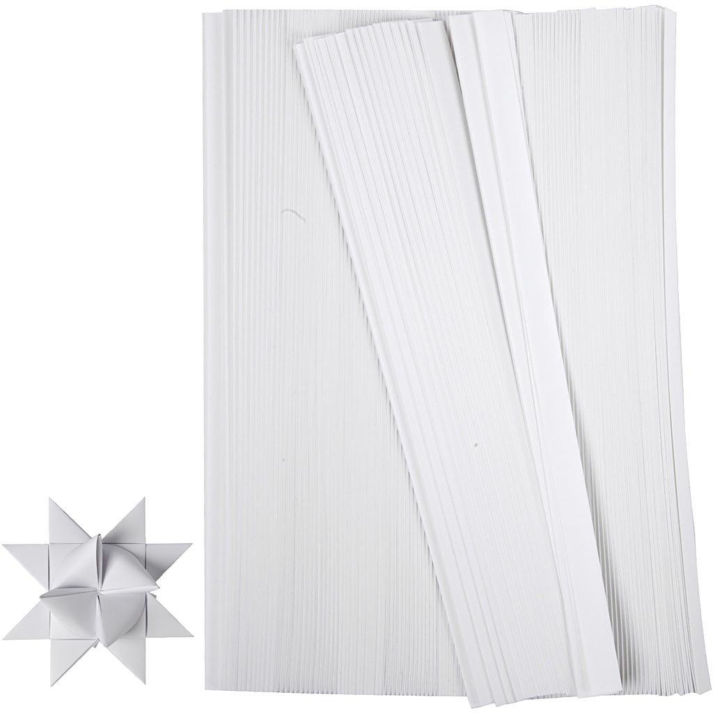 Creativ Company 20932 Papierstreifen zum Falten von Sternen, 500 Stück, Rot 500 Stück