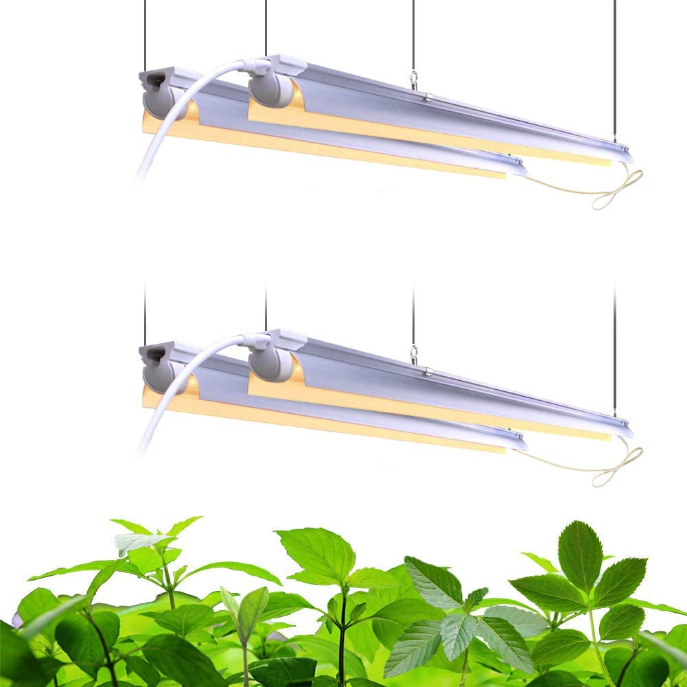 168W 4 x 42W, 1000W Equivalent 4-Pack T8 Integrated Growing Lamp Fixture Grow Light Bulbs for Indoor Plants 4FT LED Grow Light Barrina Full Spectrum Grow Light