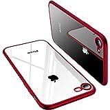 TORRAS iPhone8 / iPhone7 用ケース 背面クリア レッド