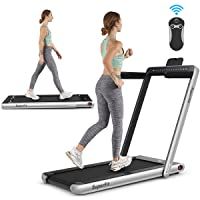 Deals on Goplus 2 in 1 Folding Treadmill with Dual Display