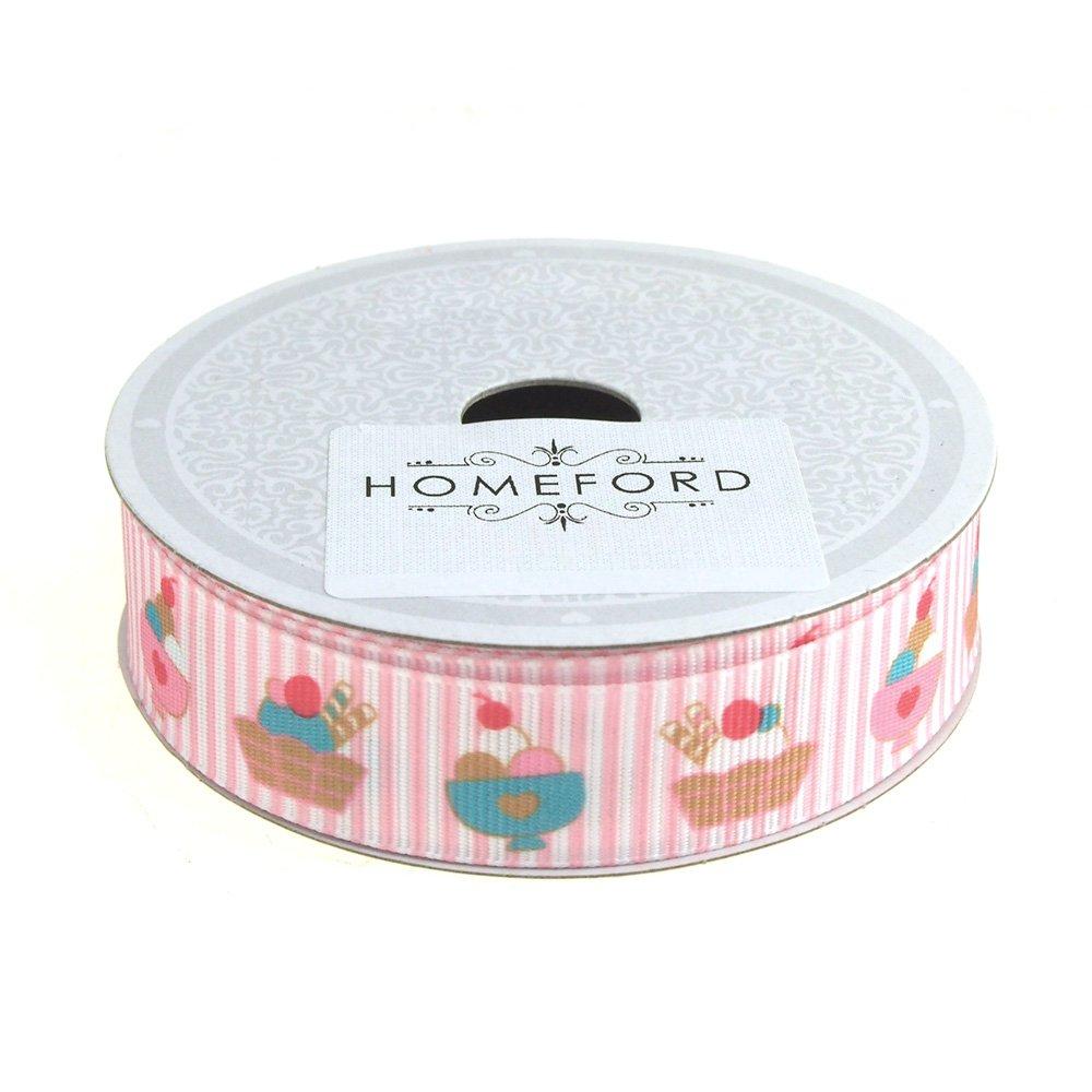 Homeford FCR00GSI0708WTPK Ribbon, 7/8'', Pink
