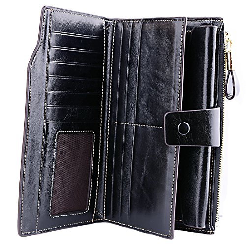 Aojiao Wallet for Women RFID Blocking Black
