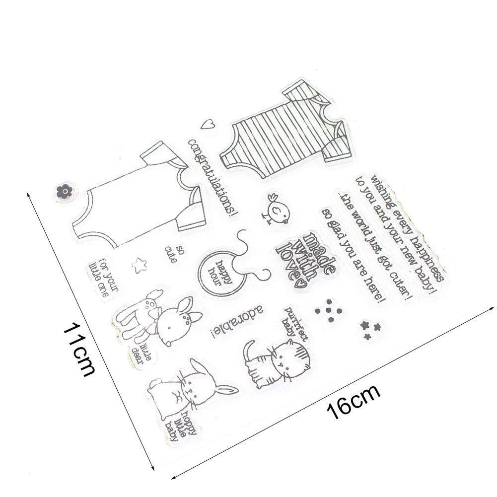 Die Dekoration DIY Album Craft Scrapbooking ShenTan Transparente Clear Stamps Karte Transparente Stempel versiegelung