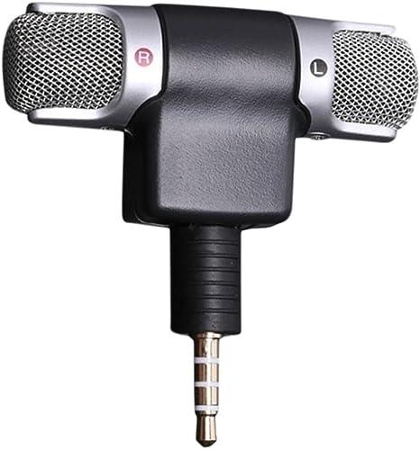FancyU Micrófono para Smartphone,Mini 3,5 mm estéreo micrófono micrófono Grabador de Audio para Smartphone grabadora: Amazon.es: Electrónica