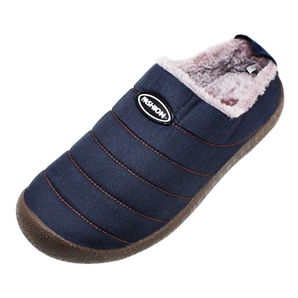 TALLA 44 EU. Yudesun Sandalias Chanclas Zapatos Zapatillas Hombre - Invierno Cálido Zapatillas de Casa para Zapatillas Fluff Antideslizantes Confortables Casa Interior Impermeable