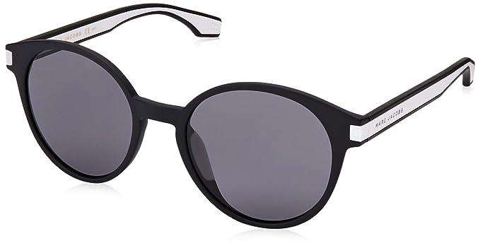 11edd9ca813b Marc Jacobs Iconic Stripes Neon Round Sunglasses in Black White MARC 287/S  80S 58