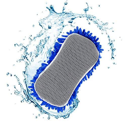 Ultimate Microfiber Car Wash Sponge - Premium Chenille Microfiber - Lint Free - Scratch Free - Ultra Soft Automobile Cleaning Sponge - 1 Pack