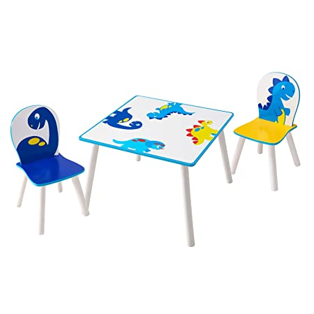 Dinosaur Kids Table and 2 Chair Set by HelloHome  sc 1 st  Amazon UK & Dinosaur Kids Table and 2 Chair Set by HelloHome: Amazon.co.uk ...