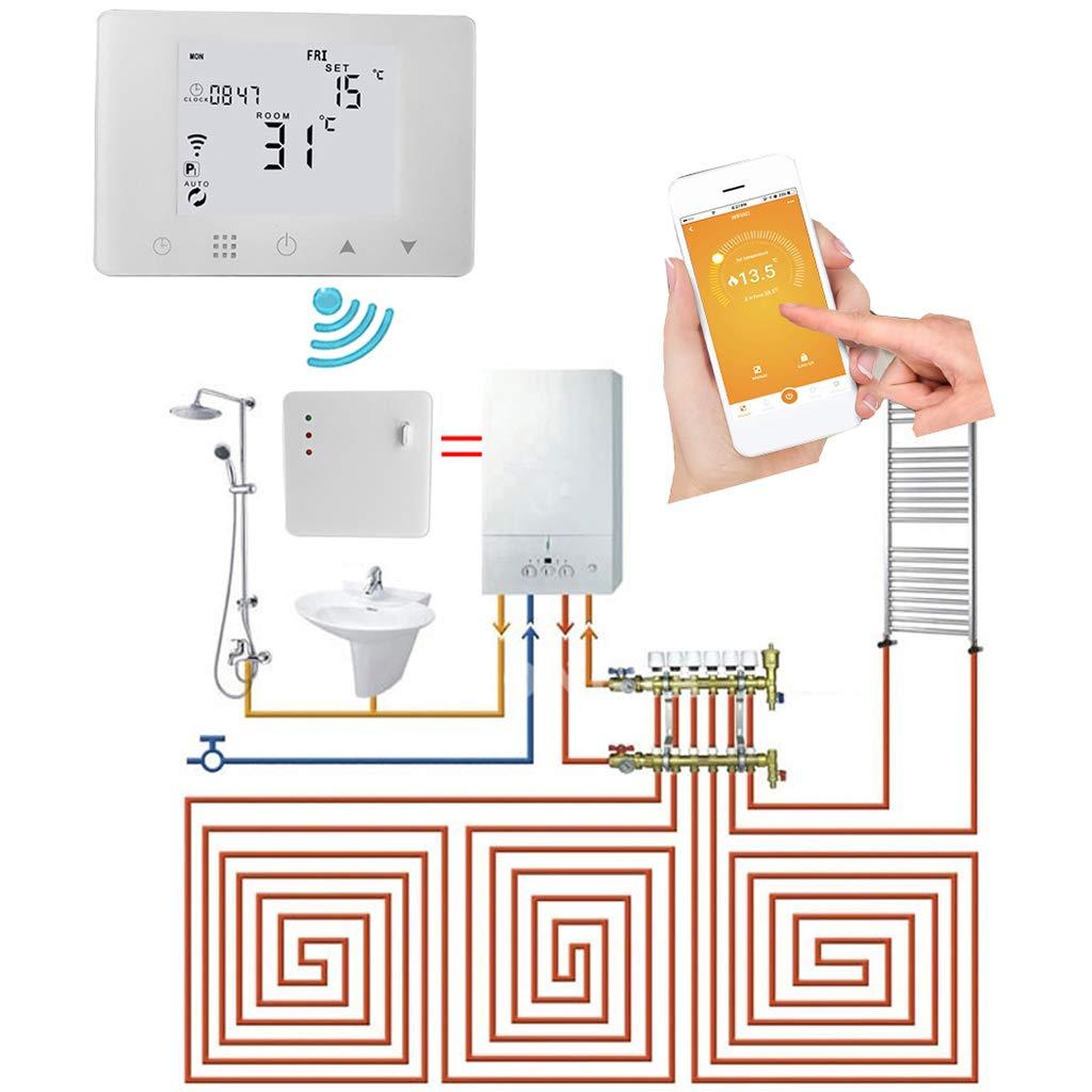 Gasheizung BECU 1 Set WiFi und RF Raumthermostat kabellos Fernbedienung Temperaturregler Wandheizung
