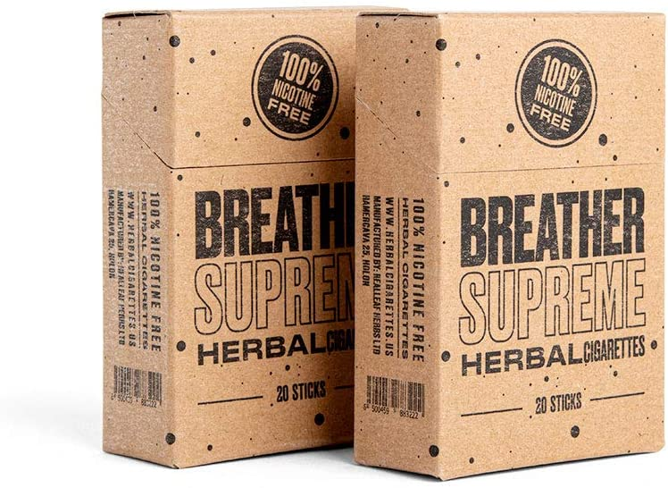 Herbal Cigarettes - Tobacco and Nicotine Free 2 Packs 40 Smokes