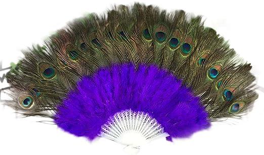 Pluma de pavo real plumas grande de porcelana demostrar Ventilador ...