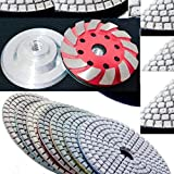 """4"""" Diamond Polishing Pad Aluminum Hoop & Loop Backer Grinding cup wheel 40 Pieces for granite terrazzo concrete marble quartz buffing smoothing sanding leveling floor tile grinder polisher -  Asia Pacific Construction"""