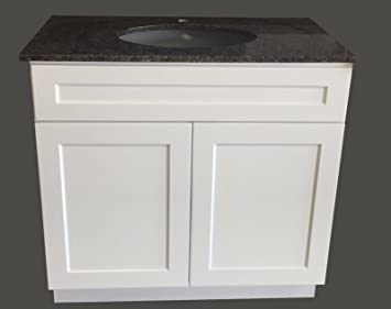 Charmant 30u0026quot; Wide X 21u0026quot; Deep New White Shaker Single Sink Bathroom Vanity  Base