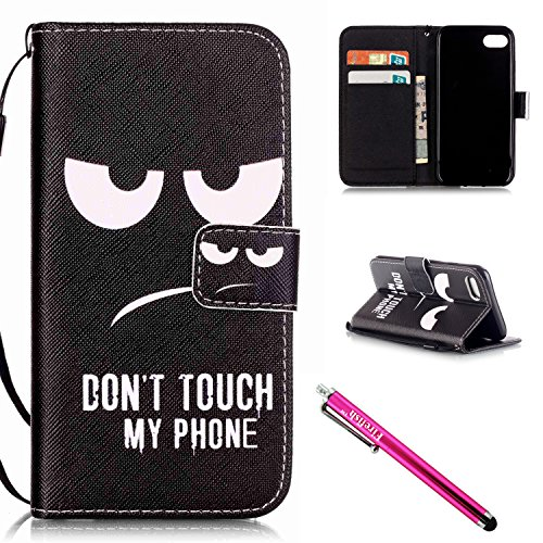 "Price comparison product image iPhone 7 Case, iPhone 7 Wallet Case, Firefish [Kickstand] Design [Card/Cash Slots] Premium PU Leather Wallet Flip Cover with Wrist Strap for Apple iPhone 7 4.7""-Blackeye"