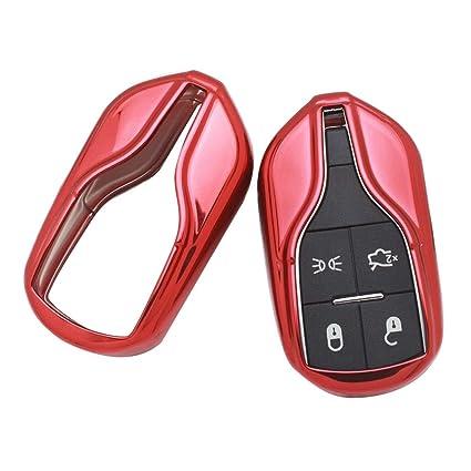 LINDANIG para la cubierta Key Fob de Maserati Estuche Fob ...
