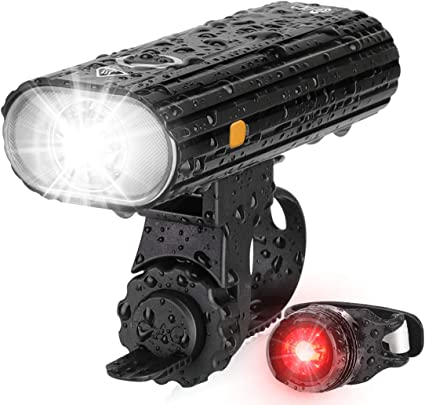 LED Bike Headlight Bicycle Front /& Rear Tail Light Set Rechargeable Accessories