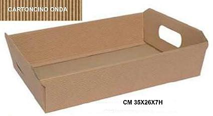 Bandeja Cesta de cartón onda Avana, conf. de 10 piezas