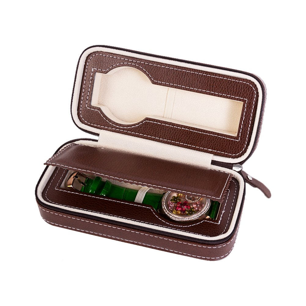 Driklux Automatic Double Watch Travel Bag for Rolex Leather Portable