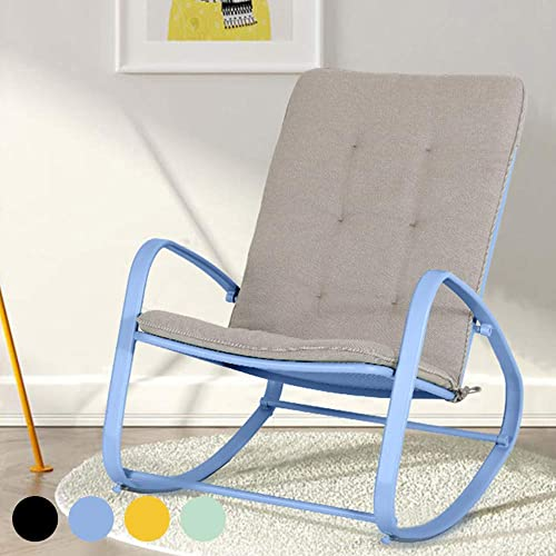 PHI VILLA Outdoor Patio Metal Rocking Chair