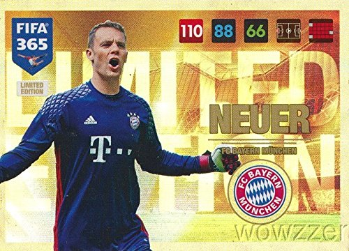 2017-panini-adrenalyn-xl-fifa-365-exclusive-manuel-neuer-limited-edition-card-rare-awesome-special-g