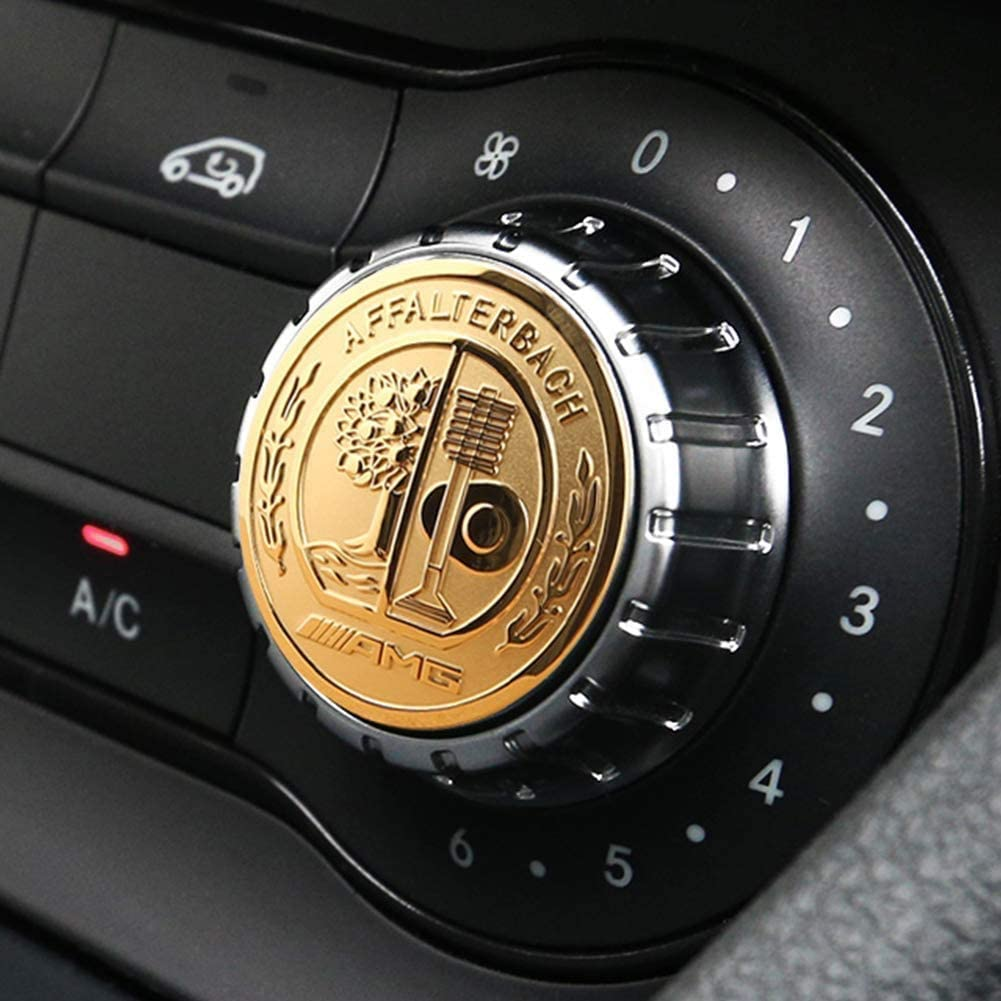 29mm Knob ,Silber L/&U AMG Center Console Multimedia-Steuertastenknopf Borte Abdeckung Abziehbilder Emblems Aufkleber f/ür Mercedes Benz A B E GLK GLA CLA GLE ML GL-Klasse