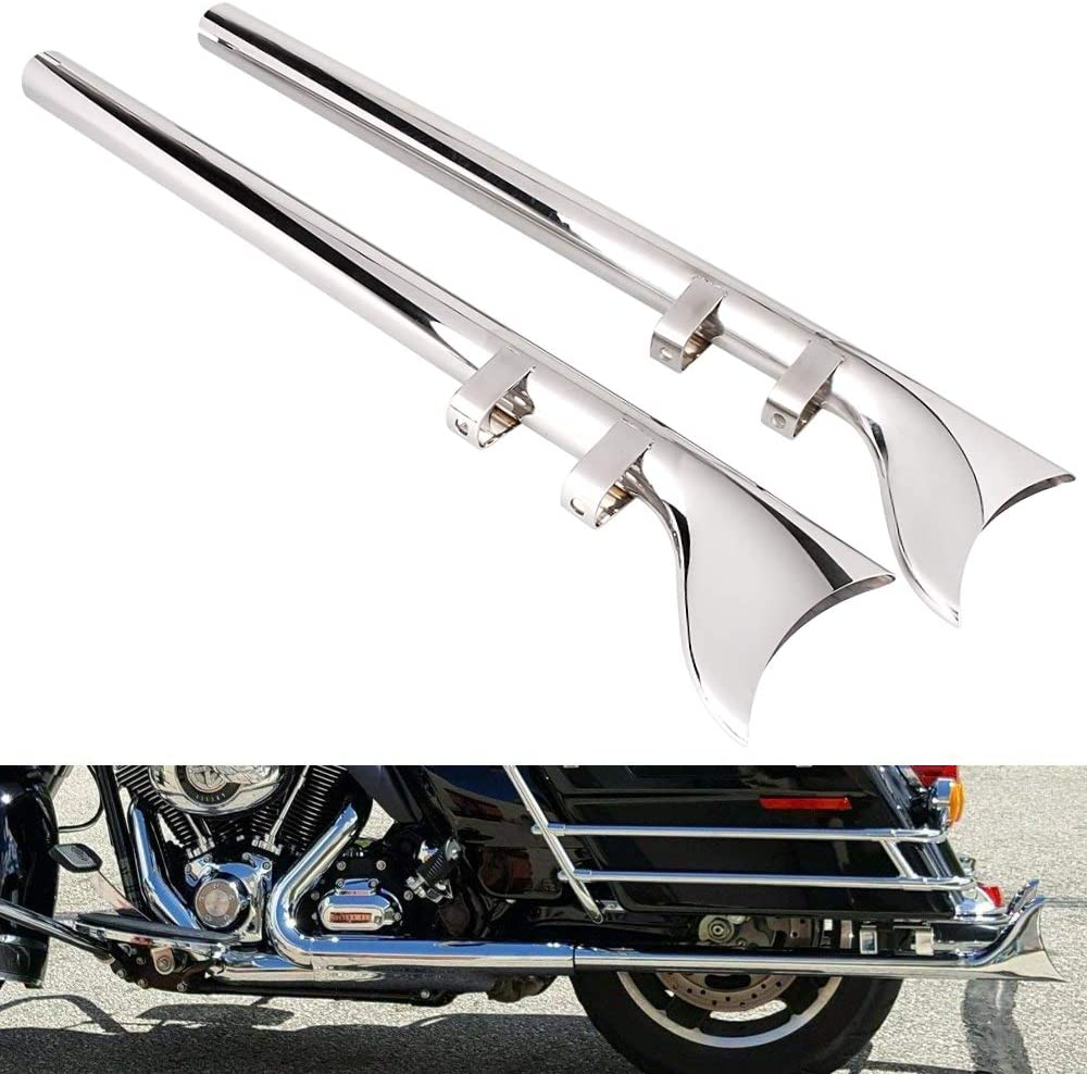 Straight 18  Fishtail Extension Set fits Harley-Davidson motorcycles