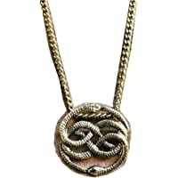 NeverEnding Story Antique Bronze Necklace, Auryn Necklace, Long or Choker, Never Ending Story Snake Pendant, Snake…