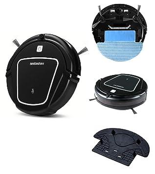 SEEBEST Robot de Barrido, aspiradora cronometrada con función de Mopping, Auto-Carga,