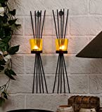 TiedRibbons® Tlight Candles Holder /Wall Sconce Holder Pack of 2(Black, Metal) | diwali decoration hanging | tealight holder hanging | diwali tealight holder | corporate gifts for staff