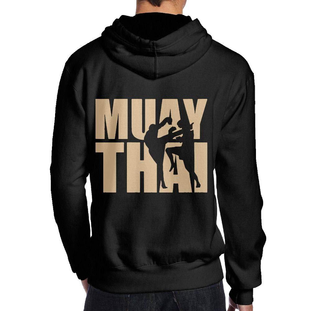 JHDKDGH-N Muay Thai Back Print Long-Sleeved Hoody for Man