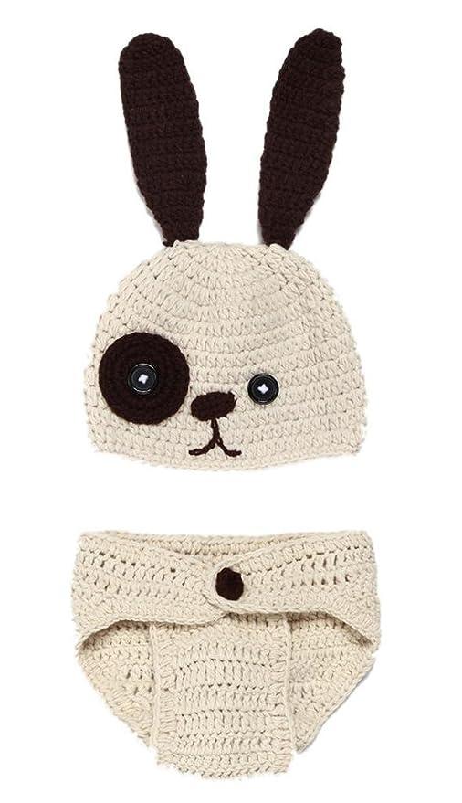 Bigood Déguisement Bébé Garçon Costume Crochet Animaux Photographie Outil  Lapin 3134dd7e761