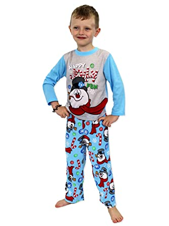 Frosty the Snowman Christmas Holiday Family Sleepwear Pajamas  (Adult Kid Toddler) e4db90840