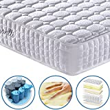 [Limited Offer] Vesgantti 9.4 Inch Multilayer Hybrid Full Mattress - Multiple Sizes & Styles Available, Ergonomic Design with Memory Foam and Pocket Spring/Medium Plush Feel