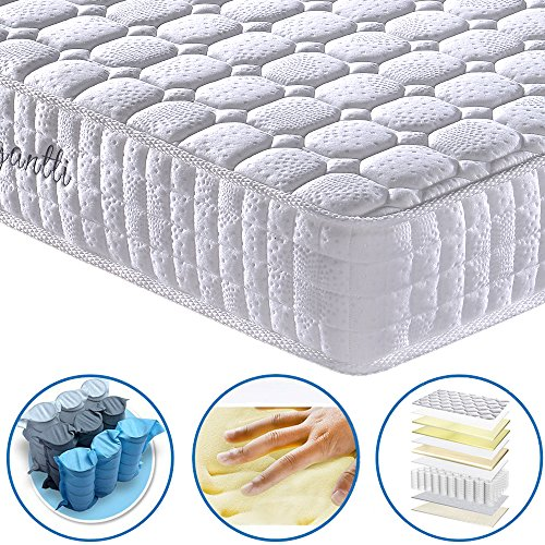 [Limited Offer] Vesgantti 9.4 Inch Multilayer Hybrid Twin Mattress - Multiple Sizes & Styles Available, Ergonomic Design with Memory Foam and Pocket Spring/Medium Plush Feel
