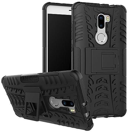 GOZAR Funda Xiaomi Mi5S Plus, Xiaomi Mi 5S Plus Carcasa Protectora Antigolpes Armadura Doble Capas a Prueba de Choques Caída Protección Robusto Case ...