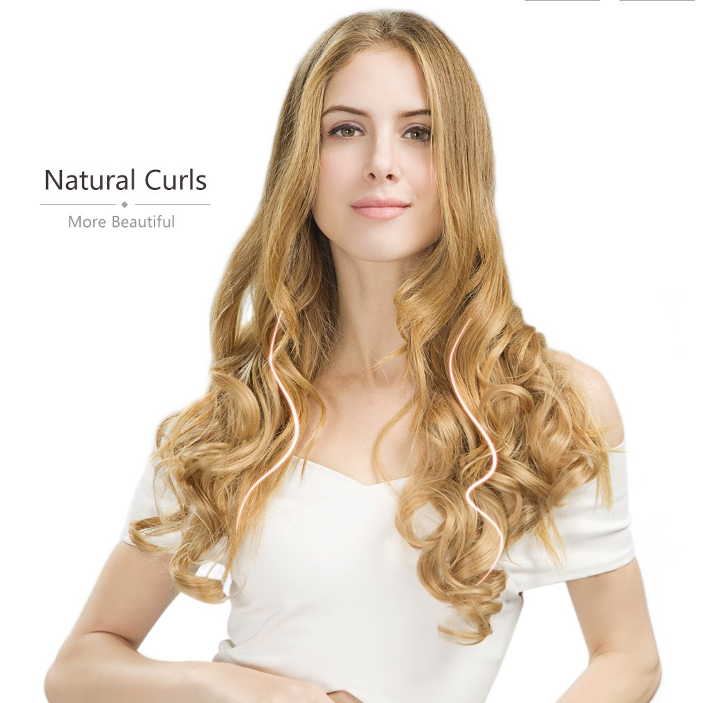 Reecho 20 1 Pack 34 Full Head Curly Wave Clips In On Synthetic Hair