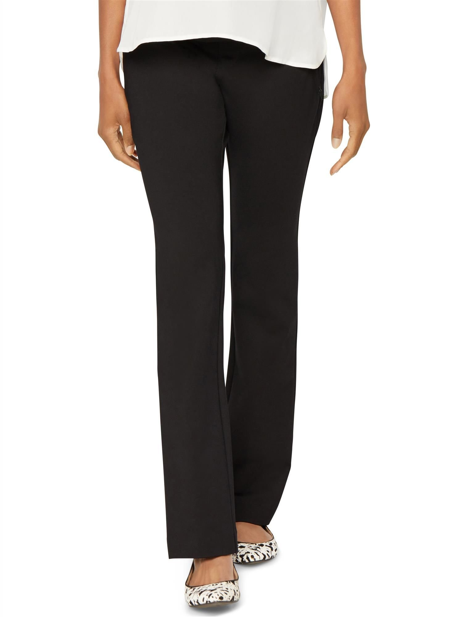 A Pea in the Pod Secret Fit Belly Ponte Boot Cut Maternity Pants