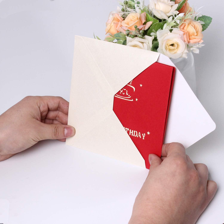 Carte danniversaire 3D pour g/âteau Pour homme et femme Cadeaux danniversaire