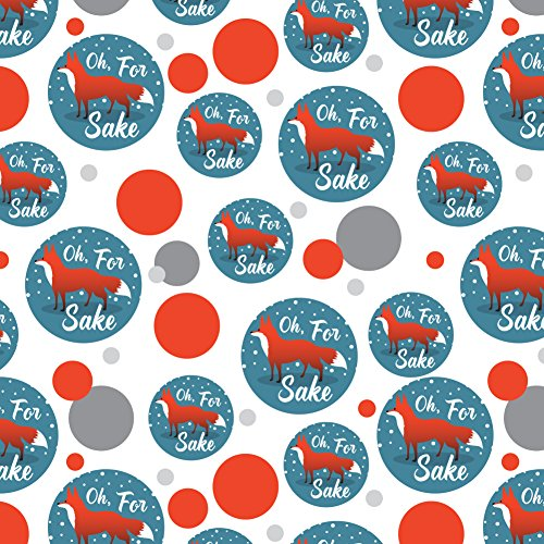 Oh For Fox Sake Funny on Teal Premium Gift Wrap Wrapping Paper Roll