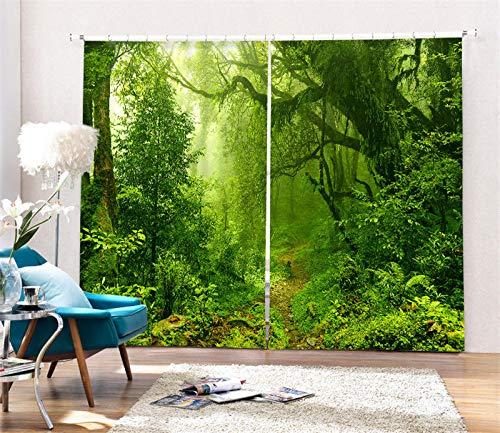 Wapel Wald Luxus schwarzout 3D-Vorhänge 3D-Vorhänge 3D-Vorhänge Für Wohnzimmer Betten Zimmer Büro Vorhänge 240X320CM B078GPX1N7 Vorhnge 8ac7f9